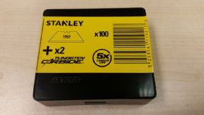 10000 x Original Stanley 1992, Heavy Duty Straight Blades, 2 notch, Stanley 11-921
